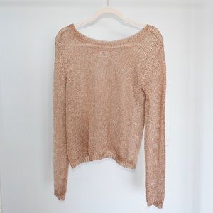Nordstrom Gold Knit Sweater